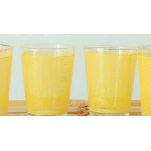 4 anciens verres BVB jaune