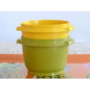 2 bols Tupperware jaune...