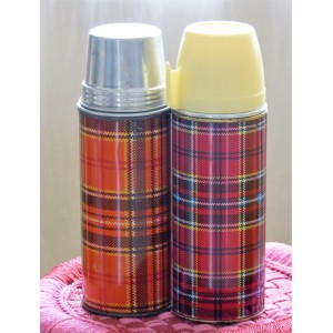 2 Thermos vintage Ecossais...