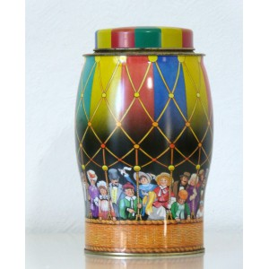 Boite fer Montgolfiere vintage