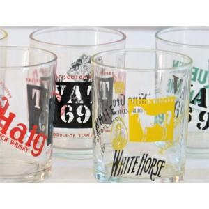 6 verres whisky vintage