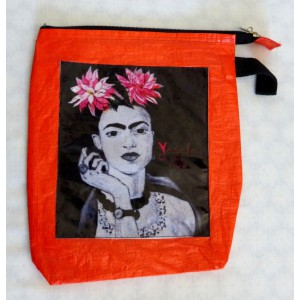 Pochette Frida Kahlo orange