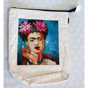 Pochette Frida Kahlo blanche