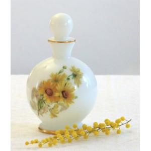 Flacon fleuri opaline vintage