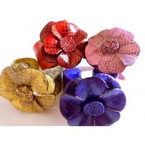 Bracelet Manchette Fleur en...