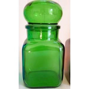 Bocal ARIEL 70's en verre vert