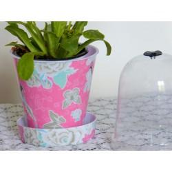 Jardiniere rose fleurie...