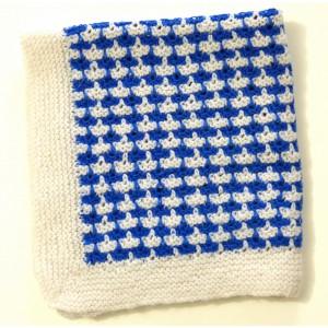 Crochet bleu et blanc deco...