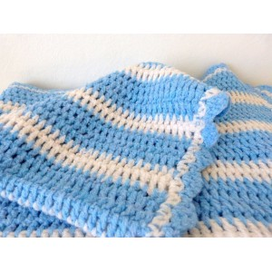 Plaid crochet enfant pastel...
