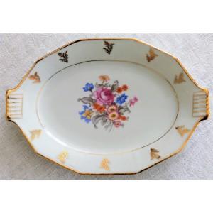 Petit plat decor floral shabby