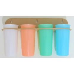 4 gobelets Tupperware 60's...