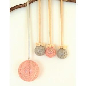 4 Boules crochet pastel...