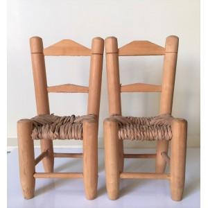 2 chaises poupee 70's  -...