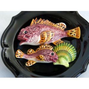 Assiette deco poissons en...