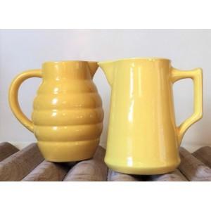 2 Pots A lait jaune vintage...