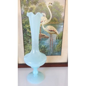 Vase soliflore opaline bleu...