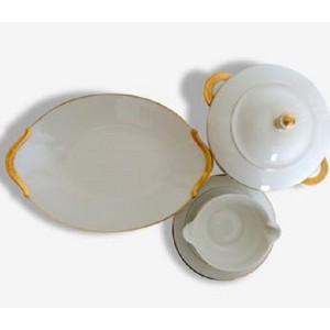 3 plats Porcelaine de...