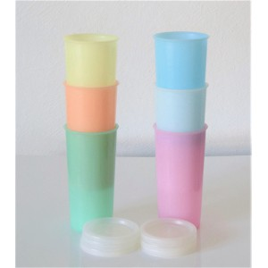 6 gobelets Tupperware 60's...