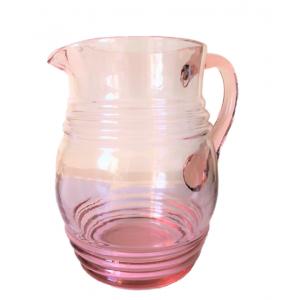 Pichet ancien en verre rose