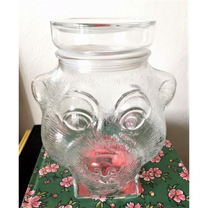 Bocal verre Tete d'ours 70's