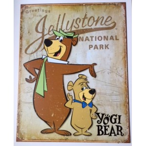 Plaque metal Yogi Bear