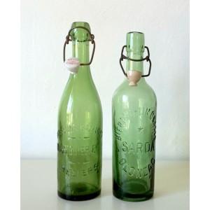 2 bouteilles Brasserie vert