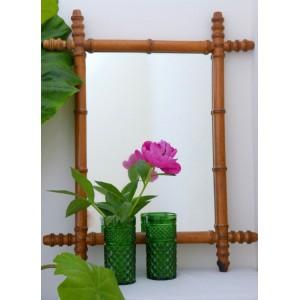 Miroir 30's bois façon bambou