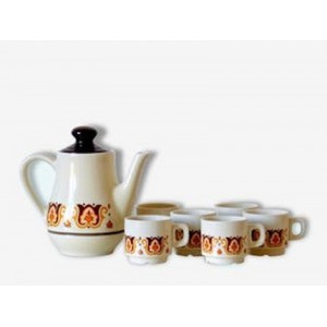 Cafetiere + tasses Jet...