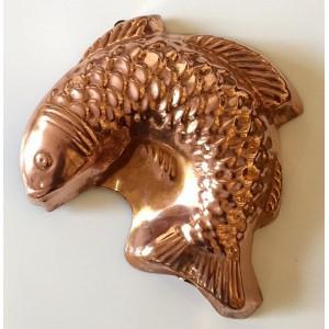 Grand Moule poisson en cuivre