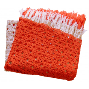 Grand plaid crochet orange...