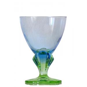 Verre a eau sculpte vintage...