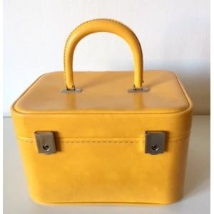 Vanity-case jaune vintage