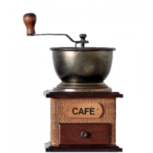 Moulin a cafe manuel bois jute