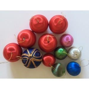 12 boules de noel vintage...