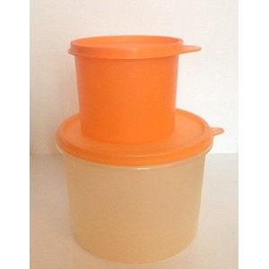 2 Boites Tupperware orange