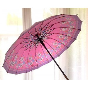 Grand Parapluie satin rose...