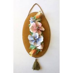 Cadre vintage Barbotine Fleurs