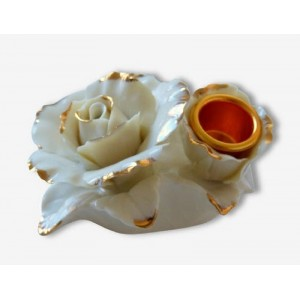 Bougeoir fleur porcelaine...