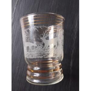 4 verres vintage Biche Cerf...