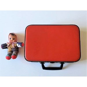 Petite valise vintage rouge