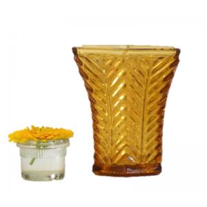 Vase Art deco verre ambre