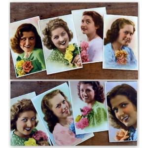 8 Cartes postales Chromos...