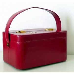 Vanity LANCEL 80's rouge...
