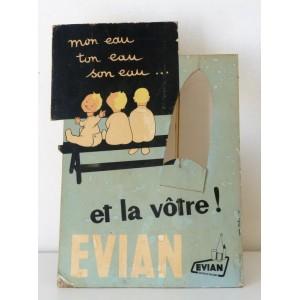Ancienne Pub carton EVIAN,...