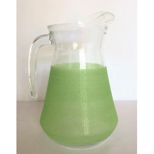 Carafe verre granite vert...