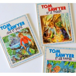 3 Livres Tom Sawyer vintage...