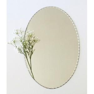 Miroir ovale biseaute vintage