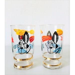 2 verres fifties motifs...