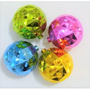 4 boules noel metallique...