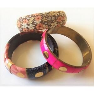 3 bracelets vintage 80's pink